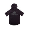 103781-008 | ABOVE S/S HOODED RAGLAN | BLACK