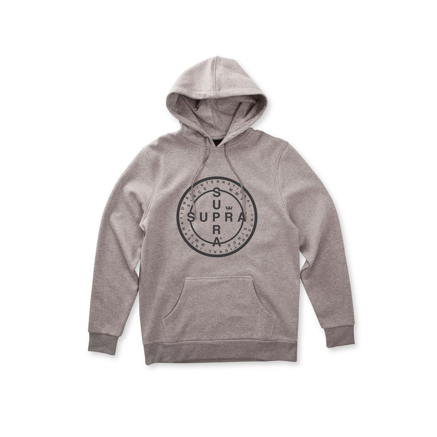 103784-034 | CROSS SEAL HOODED PULLOVER | GREY HEATHER