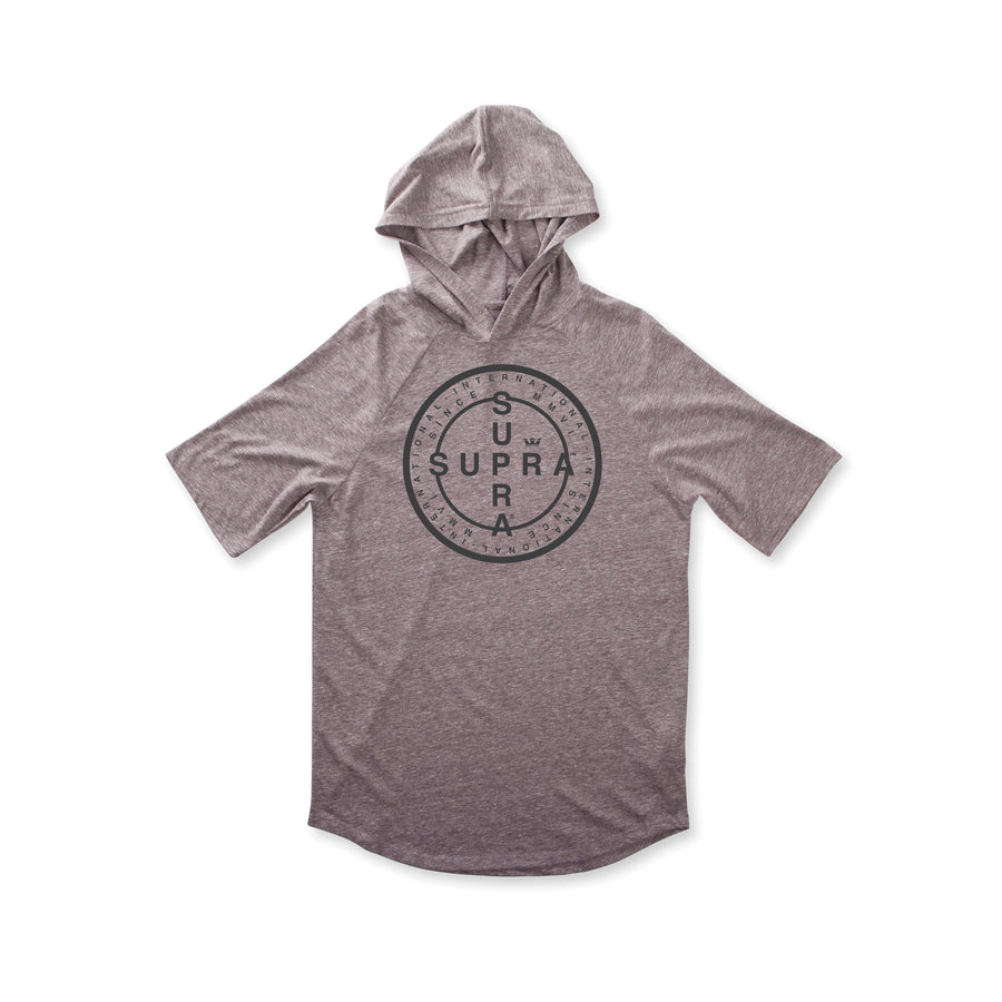 103786-034 | CROSS SEAL S/S HOODED RAGLAN | GREY HEATHER