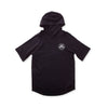103792-008 | GEO S/S HOODED RAGLAN | BLACK