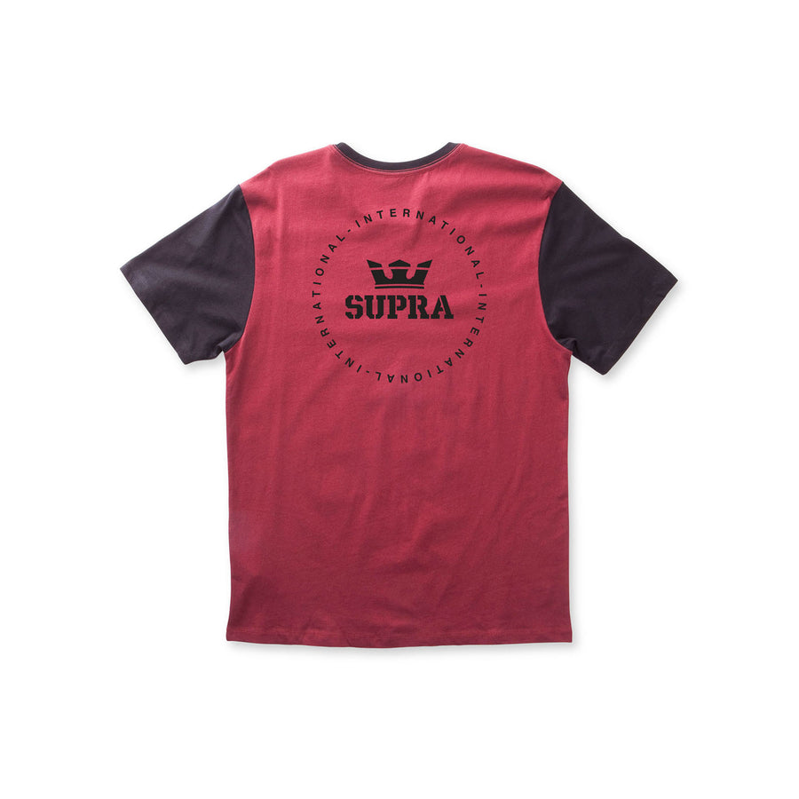 103967-613 | INT SEAL PREMIUM TEE | BURGUNDY/BLACK