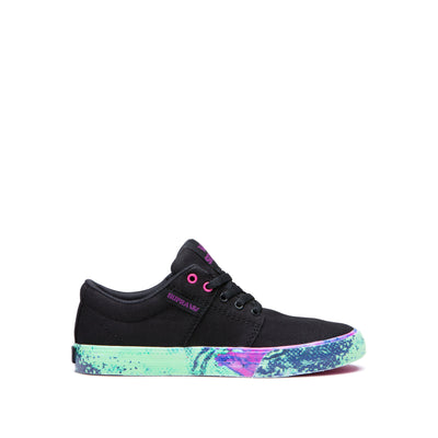 58194-069-M | KIDS STACKS II VULC | BLACK-NEON ACID