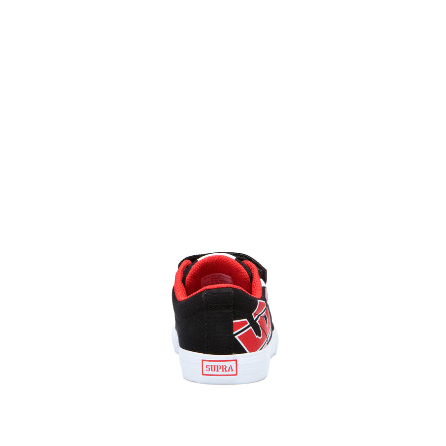 58334-005-M | KIDS STACKS II VULC VELCRO | BLACK/RISK RED-WHITE