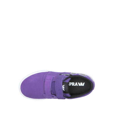 58334-529-M | KIDS STACKS II VULC VELCRO | PURPLE/BLACK-WHITE