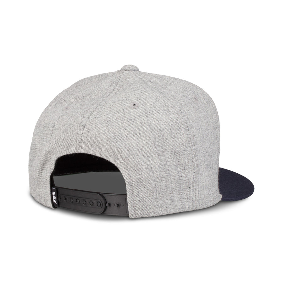C3072-048 | ABOVE II SNAP BACK HAT | GREY HEATHER/NAVY
