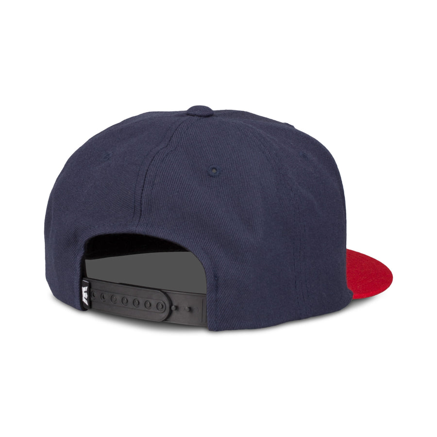 C3072-402 | ABOVE II SNAP BACK HAT | NAVY/RED