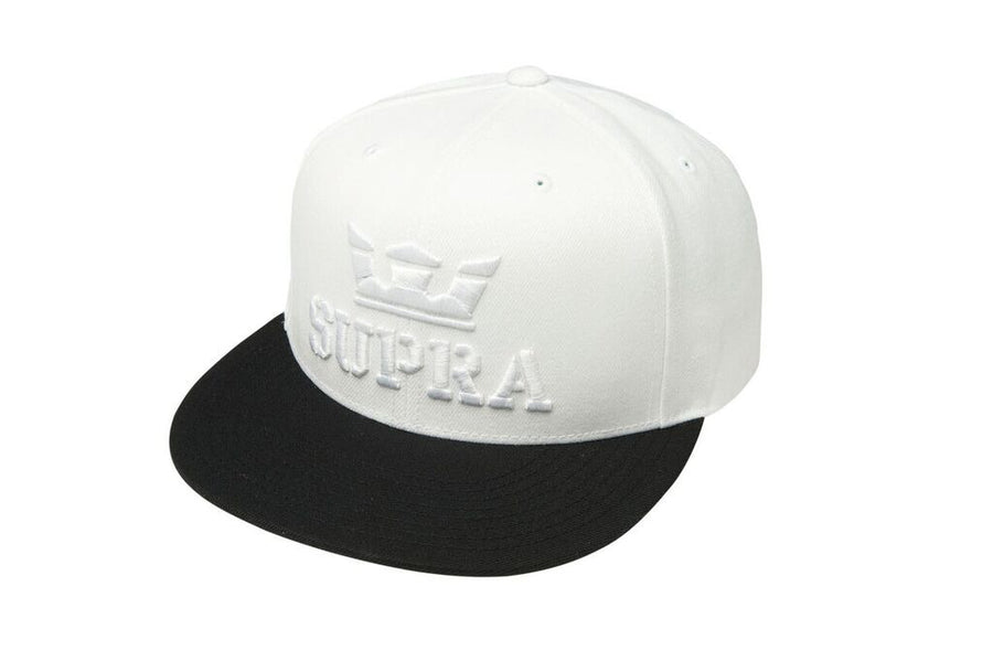 C3501-102 | ABOVE SNAP HAT | WHITE/BLACK