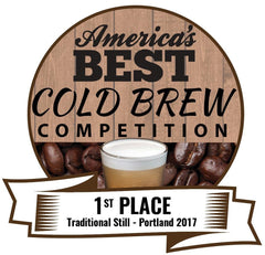"Winner of ""America's Best Cold Brew"" 2 years in a row! 2017 & 2018 Back to Back Champion!!"