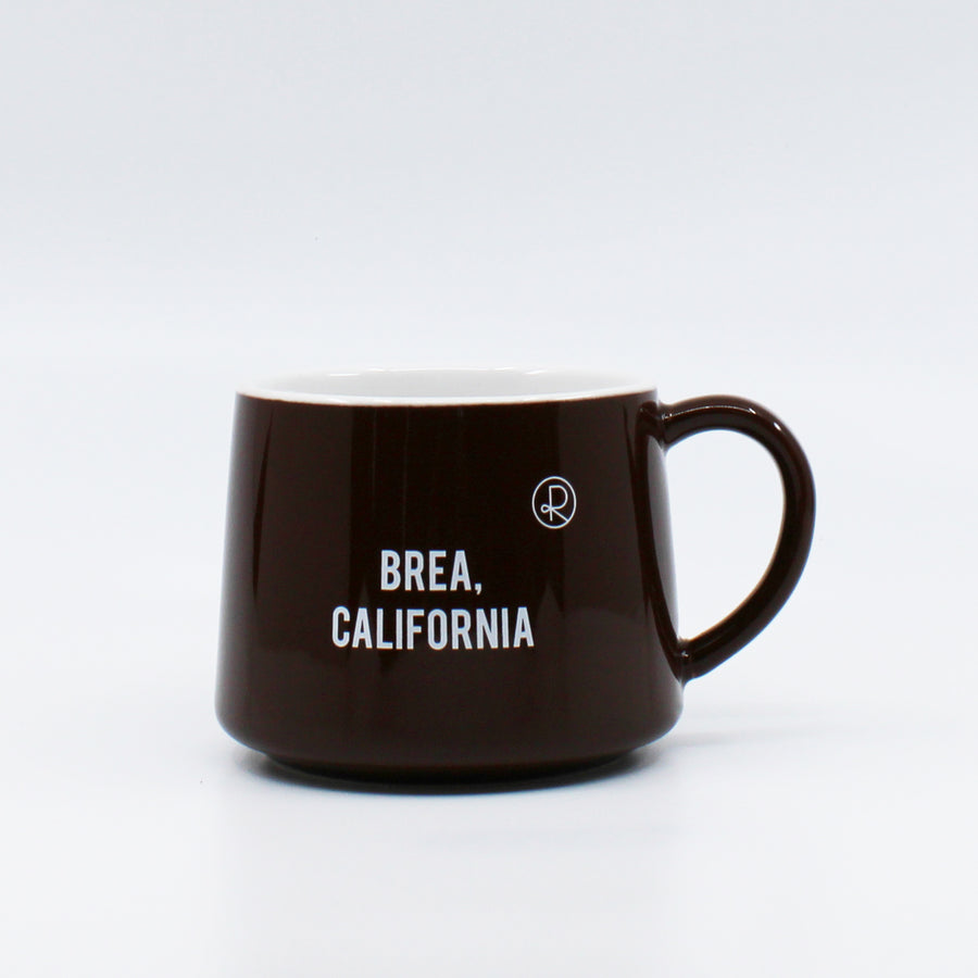 Reborn Coffee Roaster Coffee Mug BROWN -Color: White with Brown -Perfect for Reborn Coffee Fans