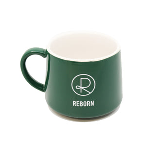 Reborn Coffee Mug Green -Reborn Coffee Roaster Coffee Mug Green -Color: White with Orange -Perfect for Reborn Coffee Fans