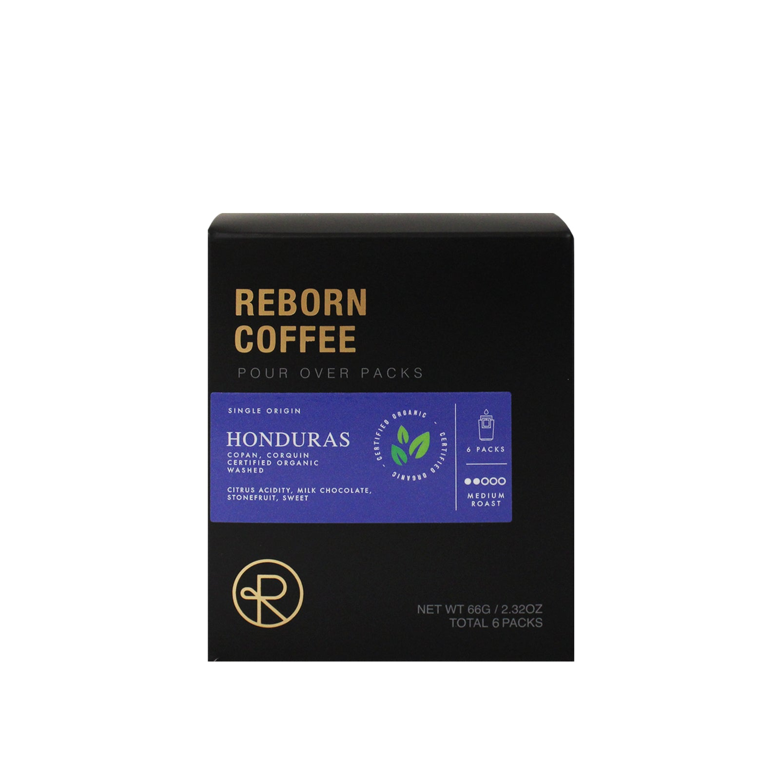 Reborn Coffee Single Serve Pour Over Drip Bag Coffee-Organic Honduras