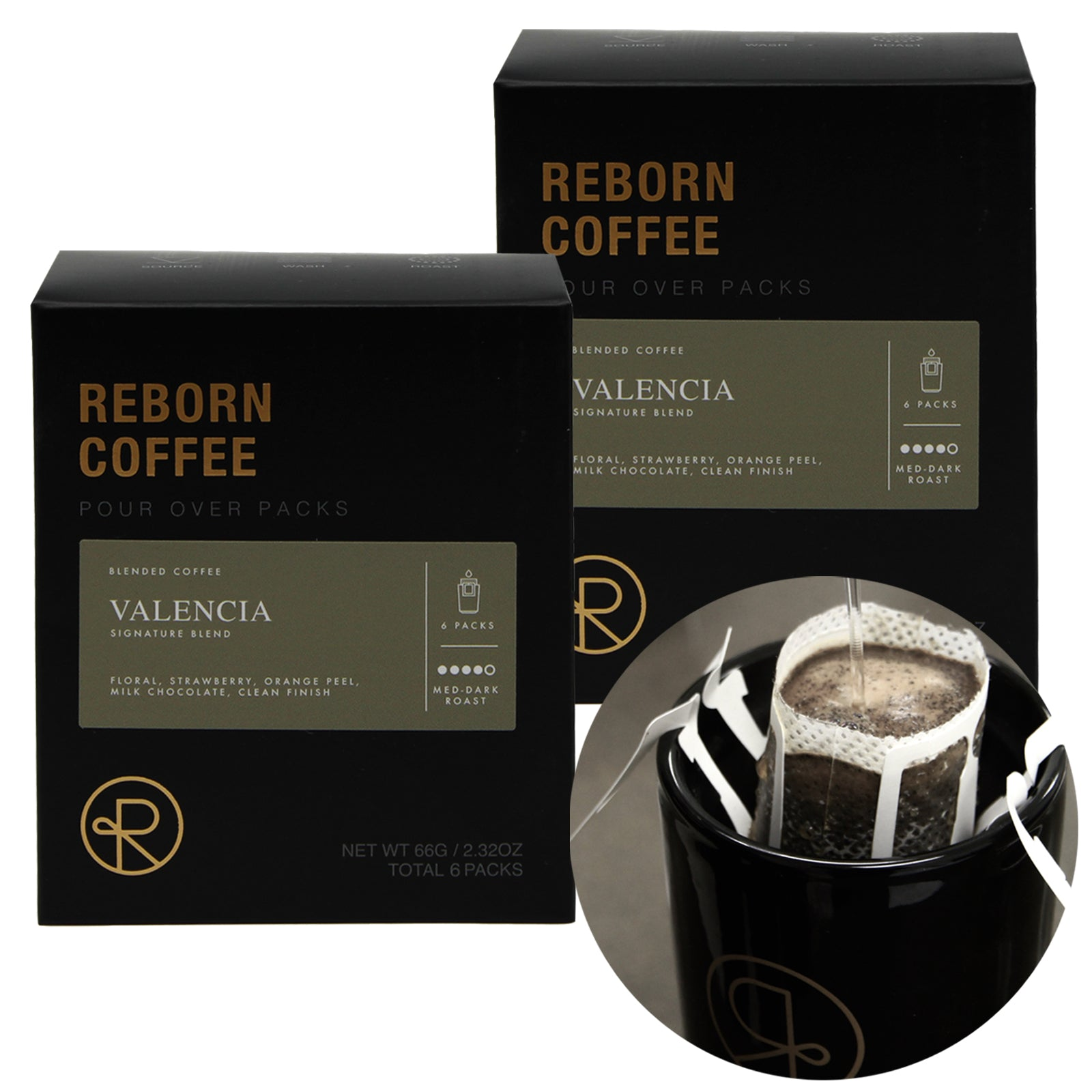 Reborn Coffee Drip Bag Coffee Gift Pack-Best Mother's(Father's) Day Gift-Reborn Coffee Signature Blend Valencia