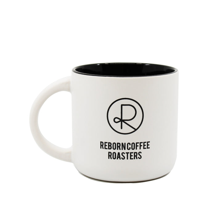 Reborn Coffee Mug. Reborn Coffee Roaster MINOLI Orange County Coffee Mug Reborn Coffee ORANGE County Series Collectible Coffee Mug. Color: White with Black Classic Shape Mug.C-Handle. Perfect for Reborn Coffee Fans