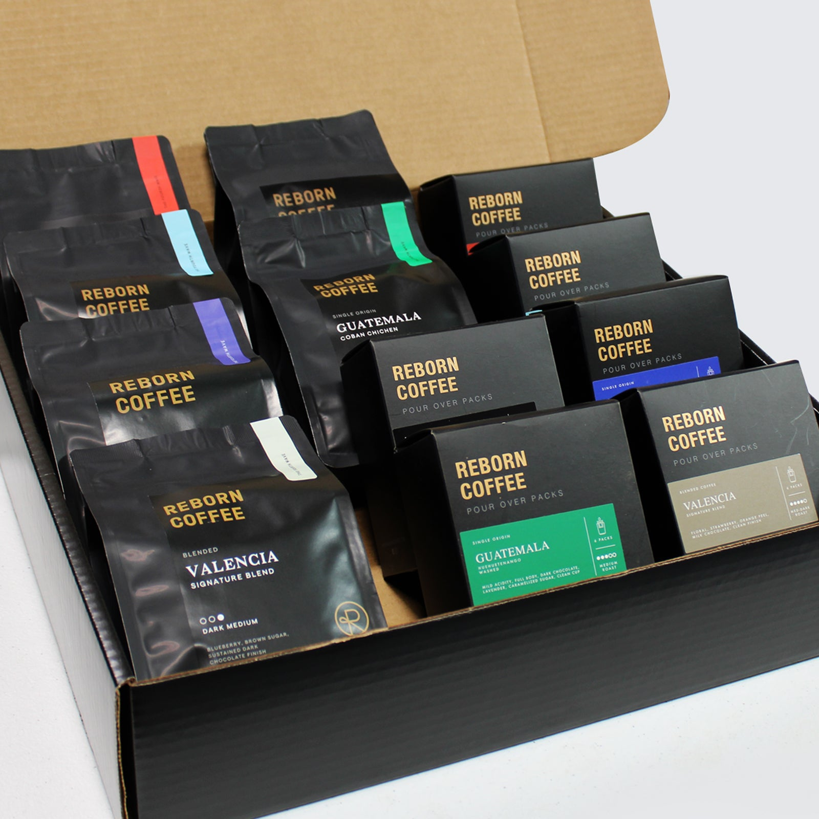 Reborn Coffee special gift set-The VIP Premier Coffee Gift sets. ship within 24 hours of being freshly roasted. Premium Specialty Coffees Gift Box. Gourmet Coffee Gift Set. Deluxe Coffee Gift set for Birthday, housewarming, Christmas.