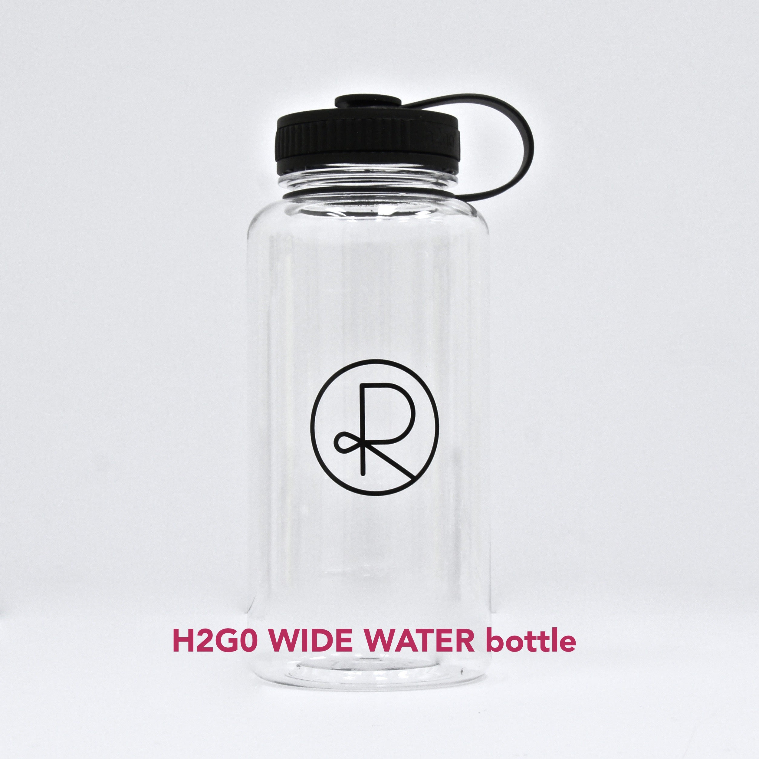 Reborn Coffee h2go Wide Water Bottle. 34 oz. Single Wall Tritan Copolyester Bottle with Threaded Lid. Patent Pending for Cold Beverage. color: CLEAR