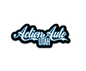 Black & Blue Action Auto Sticker