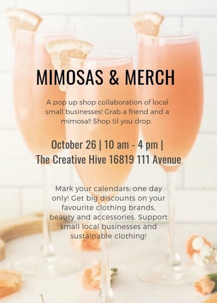 Mimosas and Merch Popup Event