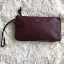 Coach Burgundy Leather Wristlet