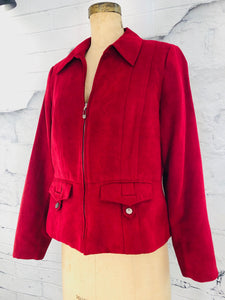 Tribal Red Suede Jacket - Weathered Hanger