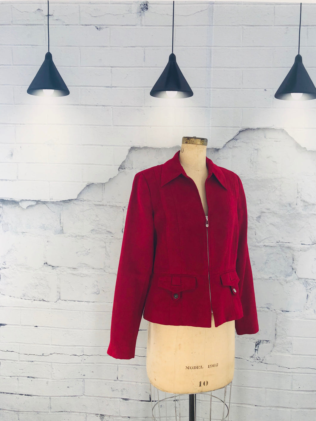 Tribal Red Suede Jacket