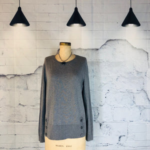 J. Jill Grey Knit Sweater