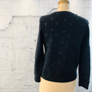 Kate Spade Black Bow Sweater with dots