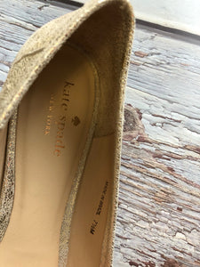 Kate Spade Gold Metallic Flats with bow - Weathered Hanger