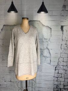 Lord & Taylor V-Neck Cashmere Sweater - Weathered Hanger