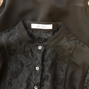 Robert Graham Black and Lace button up shirt