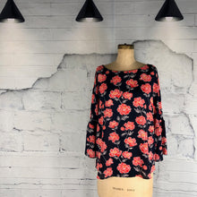 Banana Republic Navy - Orange/Red Floral Blouse - Weathered Hanger