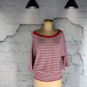 Free People retro stripe top