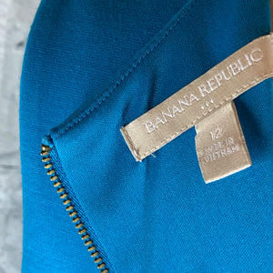 Banana Republic Teal Blue Dress