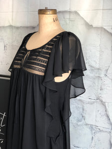 Bardot Black and lace blouse - Weathered Hanger