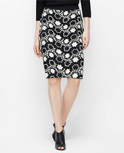 Ann Taylor Black and White Floral Pencil Skirt - Weathered Hanger