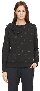 Kate Spade Black Bow Sweater with dots - Weathered Hanger