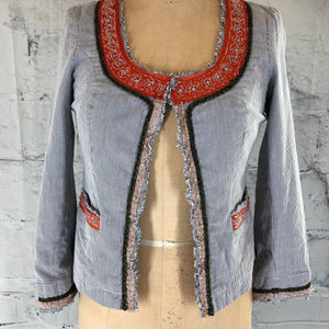 Free People Bead Embellished Crop Jacket