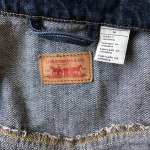 Levi's Dark Wash Denim Trucker Jacket - Weathered Hanger