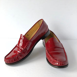 Cole Haan Red Patent Penny Loafer - Weathered Hanger