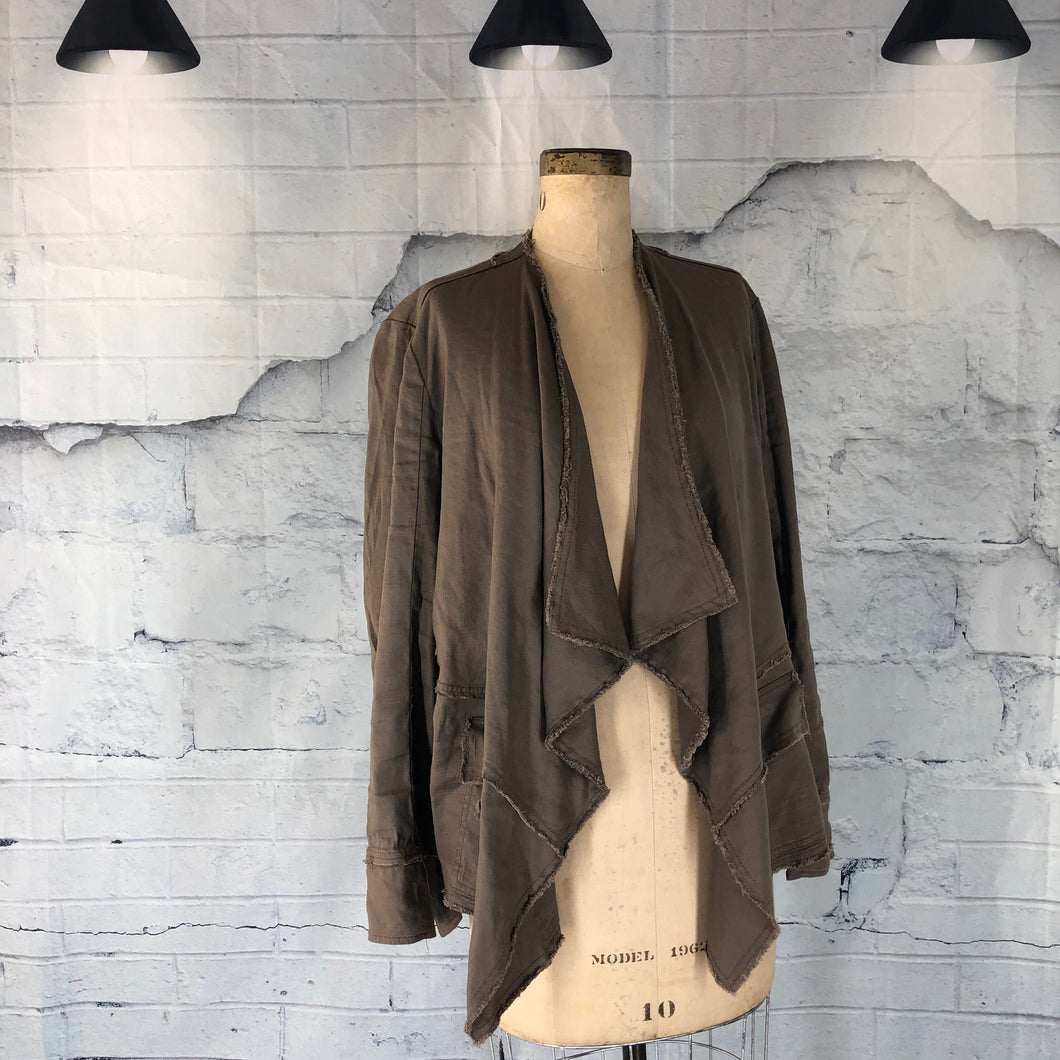 Free People Open Front Waterfall Jacket