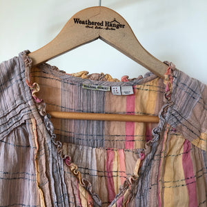 "Anthropologie Holding Horses ""Faye"" Sleeveless Plaid Top - Weathered Hanger"