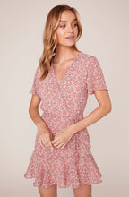 BB Dakota Call Me Daisy chiffon wrap front dress - Weathered Hanger