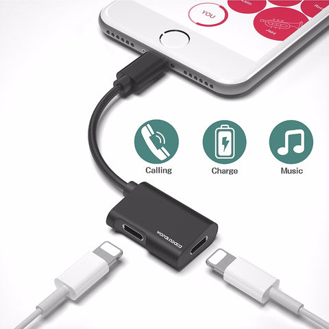 Dual Lightning iPhone Adapter [BLACK]