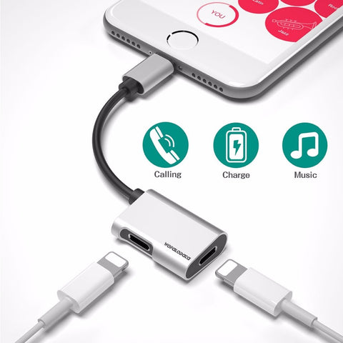 Dual Lightning iPhone Adapter [SILVER]