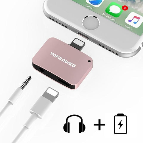 Dual Lighting And Headphone iPhone Adapter [PINK]