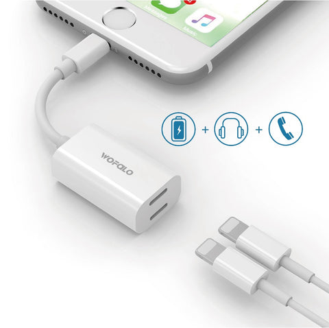 Dual Lightning iPhone Adapter [WHITE]
