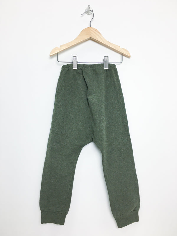 1 + in the family Pants 4y / Like New Re-Cycle Green Heathered Harem Joggers