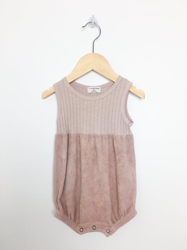 1 + in the family Romper 6m / Like New Re-Cycle Dusty Pink Tarantino Romper
