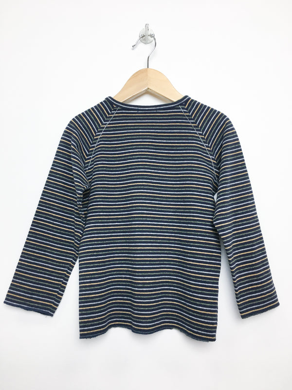 1 + in the family Tops 4y / Gently Used Re-Cycle Striped Long-Sleeve Tee