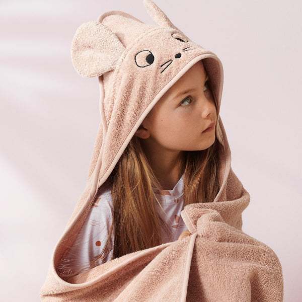 Augusta Hooded Towel - Mouse Pale Tuscany