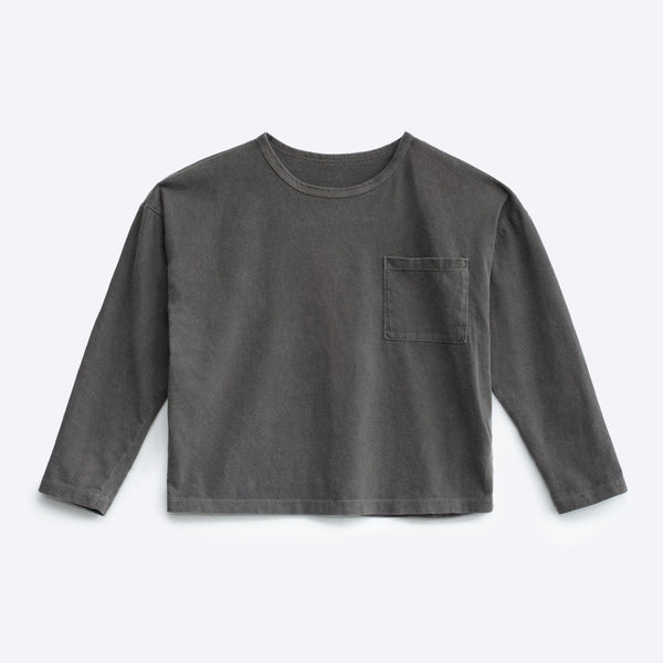 Boxy LS Shirt - Washed Grey (Rescues)